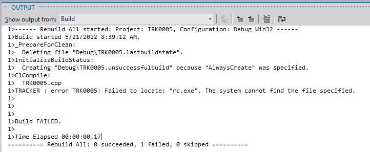 TRK0005 Linking Fails