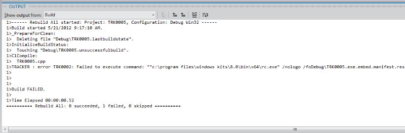 TRK0002 Linking Fails