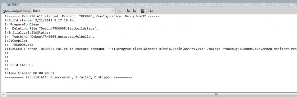 TRK0002 64bit Windows SDK Path Error